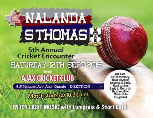 2015 St Thomas Cricket Match