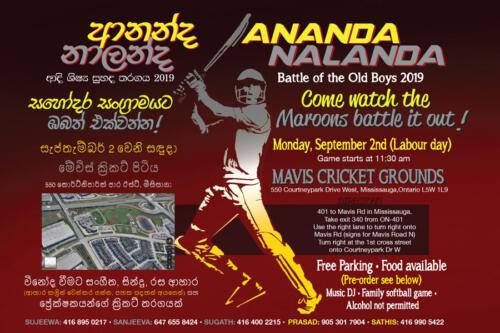 2019 Cricket Match