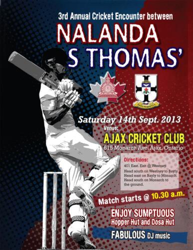 2013 St Thomas Cricket Match